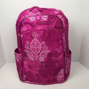 Vera bradley laptop backpack pink paisley new
